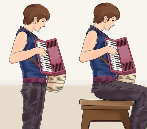 tenir l accordeon